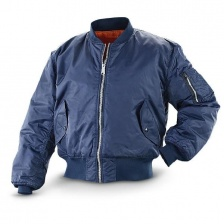 Куртка-бомбер MA-1 Flight Jacket Intermediate (Navy Blue)