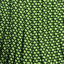 Паракорд Atwood Rope MFG (550)(Diamond  black and neon green)