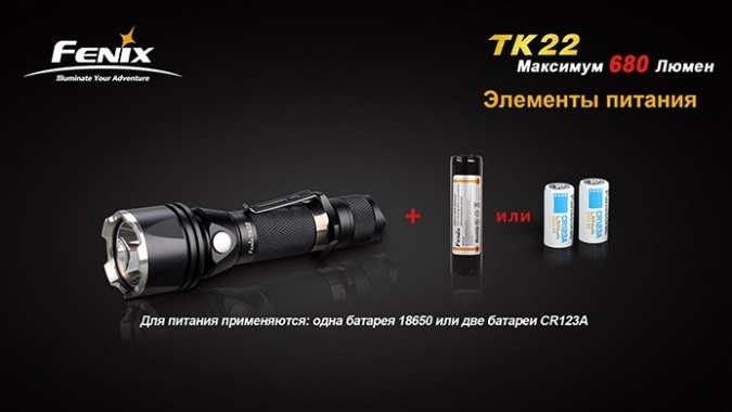 Фонарь Fenix TK22 (2014 Edition) Cree XM-L2 (U2) Led Grey (920 люмен) фото 4